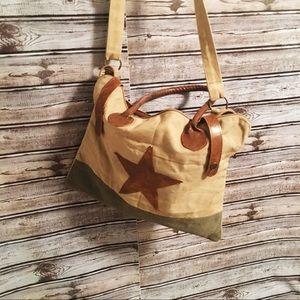 Gorgeous canvas crossbody bag